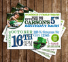Garbage Truck - Trash Trucks - Birthday Party - Invitation
