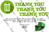 Garbage Truck - Trash Truck - Birthday Party - Thank You Card
