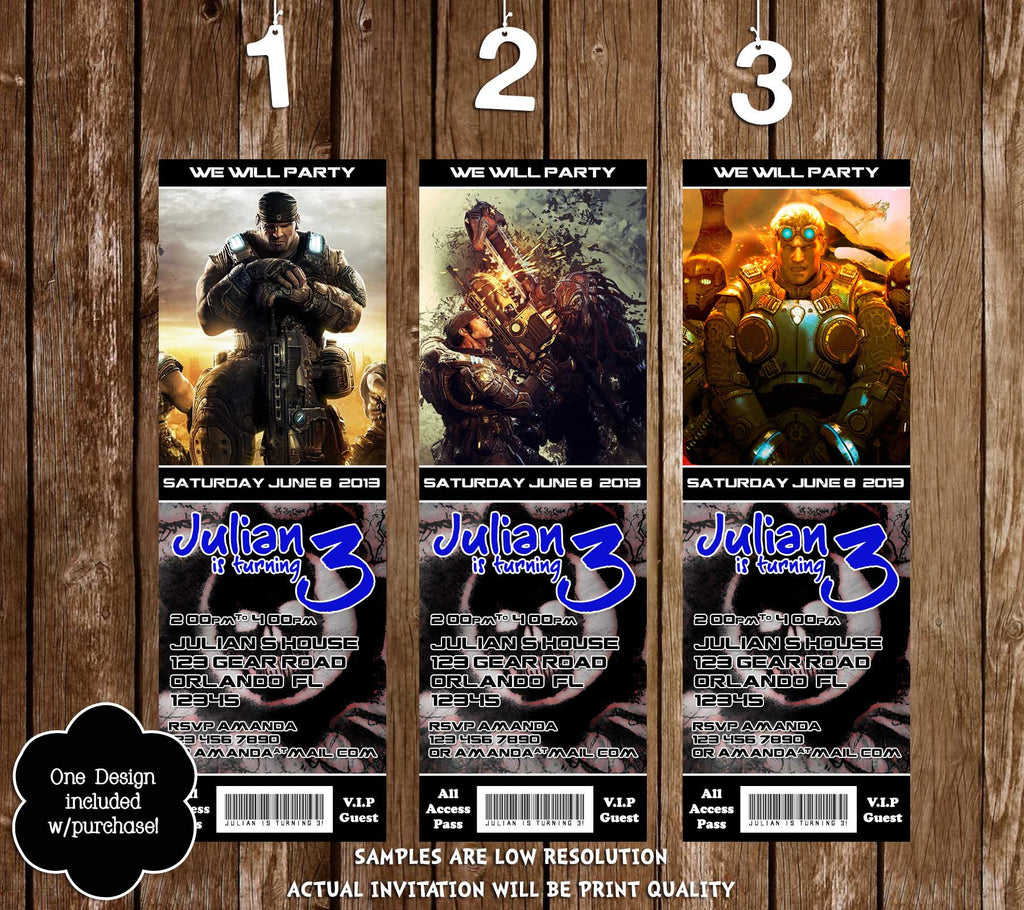 Novel Concept Designs - Gears of War Video Game Birthday Party ...