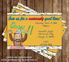 Curious George Show Birthday Invitation
