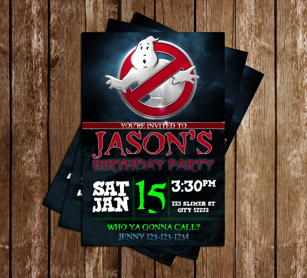 Ghostbusters - Movie - Birthday Party - Invitation