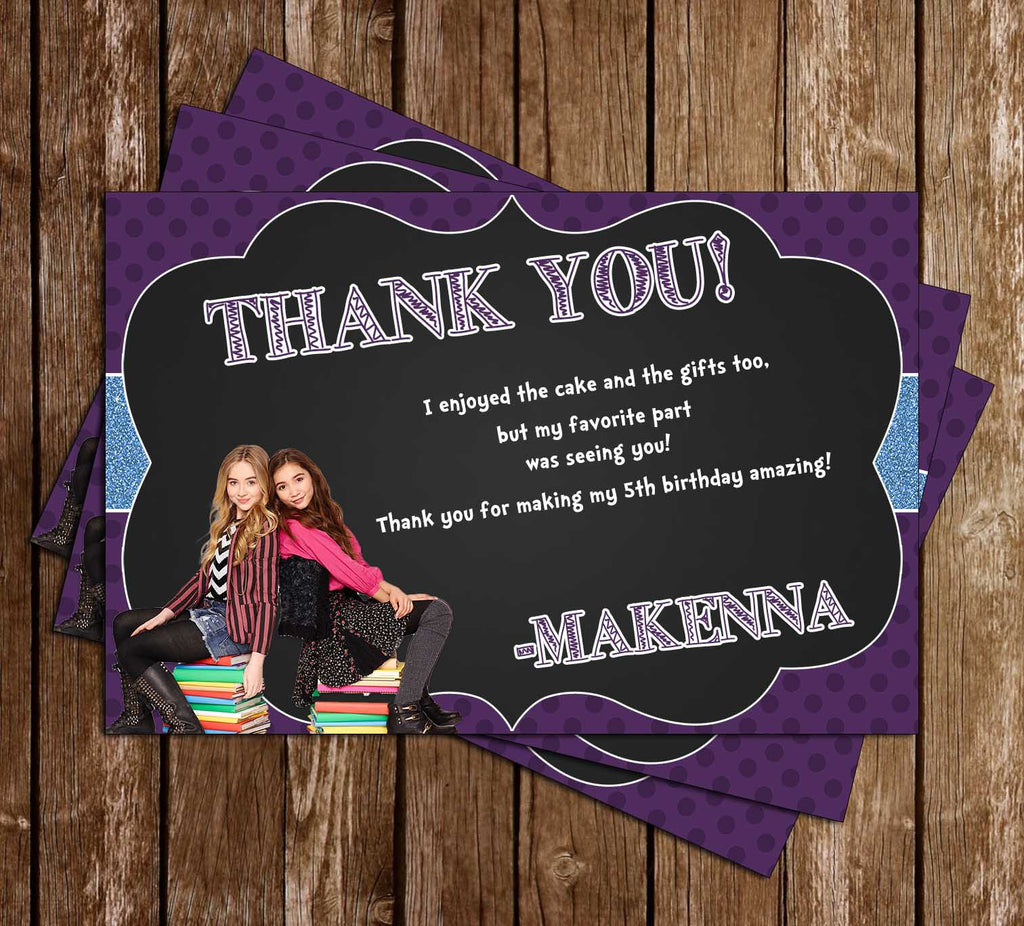 Girl Meets World - Birthday Party Thank You Card