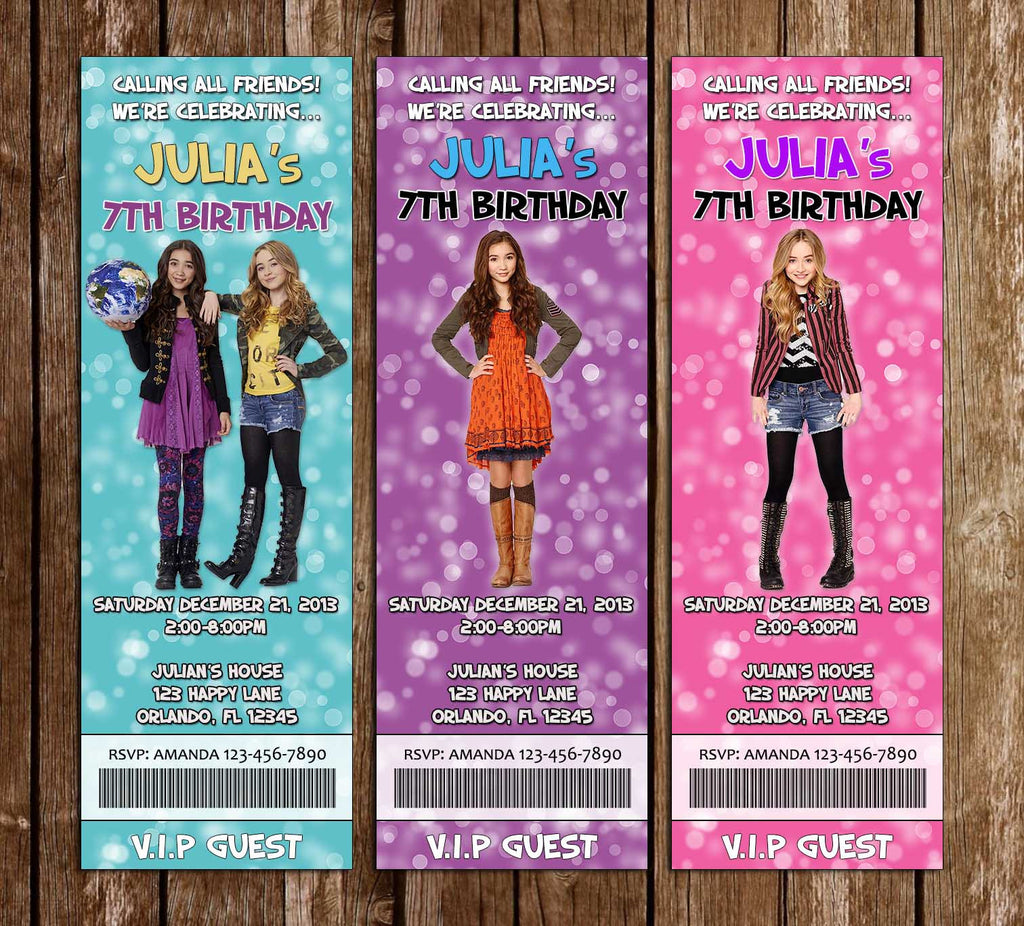 Novel Concept Designs Girl Meets World Birthday Party Ticket – Ticket Invitation