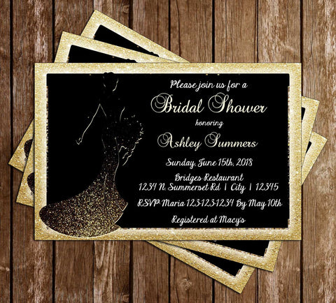 Glitter Bride - Bridal Shower - Invitation