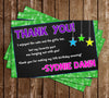 Neon Party - Glow in the Dark - Neon - Birthday Party - Invitation