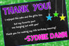 Glow in the Dark - Neon Party - Birthday Party Thank You Card