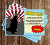 Godzilla - Comic - Birthday Party - Thank You Card
