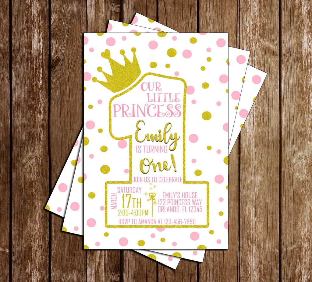 Novel Concept Designs - Pink and Gold Princess - First Birthday ...