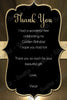 Golden - Birthday - Party - Thank You Card
