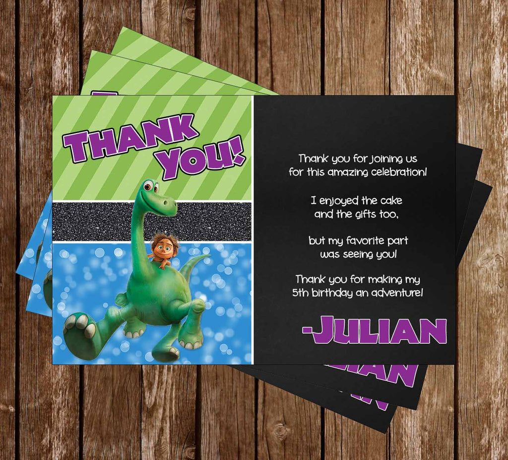 The Good Dinosaur Movie Birthday Party Thank You Card