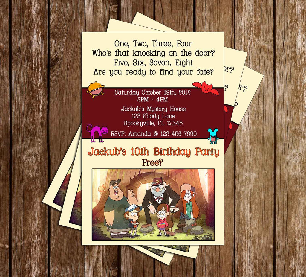 Novel concept designs gravity falls birthday invitation group gravity falls birthday invitation group stopboris Image collections