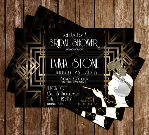 Great Gatsby - Bridal Shower - Invitation