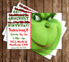 Grinch - Whoville - Birthday Party - Thank You Card