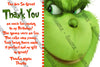 Grinch - Whoville - Birthday Party - Invitation