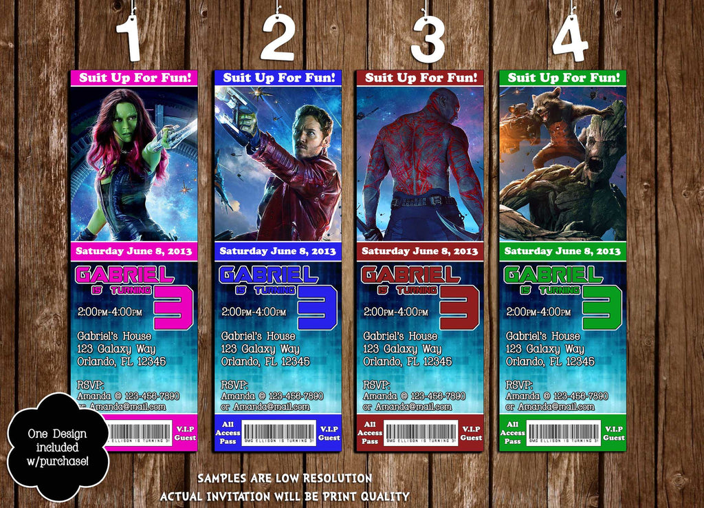 Novel Concept Designs - Guardians Of The Galaxy Movie Birthday