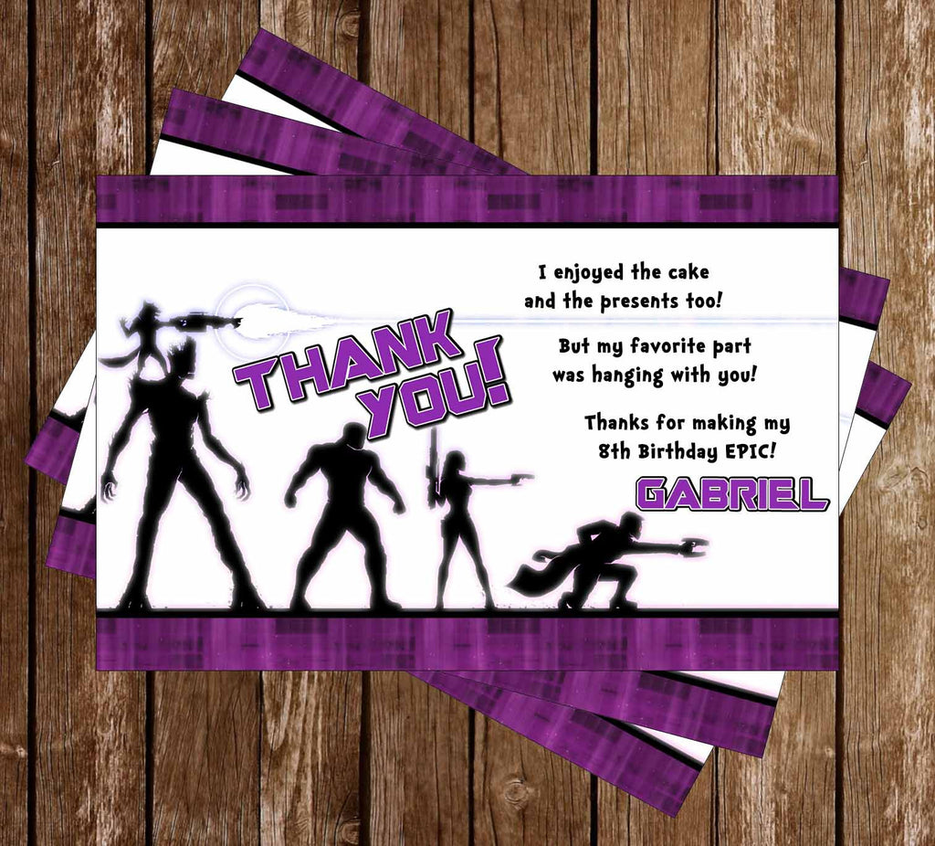 Guardians of the Galaxy Movie Birthday Thank You Card