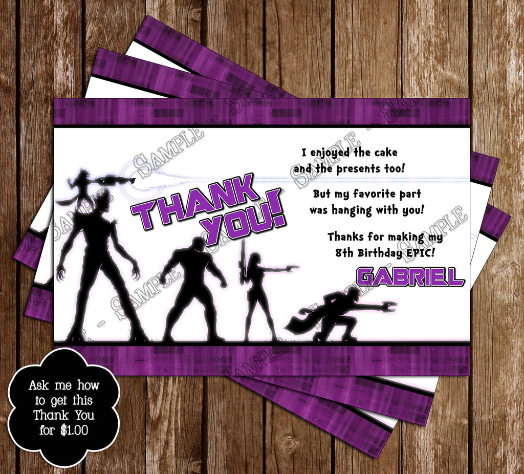 Novel Concept Designs Guardians of the Galaxy Movie Birthday – Party Ticket Invitations