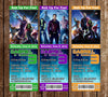 Guardians of the Galaxy Group Birthday Party Ticket Invitation