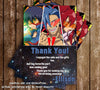 Gurren Lagann Anime Birthday Thank You Card