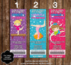 Gymnastics - Tumbling Birthday Party Ticket Invitations (3 Designs)
