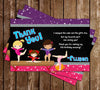 Gymnastics - Tumbling Birthday Party Thank You Card