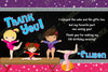 Gymnastics - Purple - Sports - Birthday Party - invitation