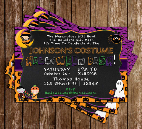 Costume Party - Halloween - Party Invitation