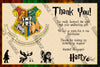 Harry Potter - Hogwarts - Hufflepuff - Birthday Party - Invitation
