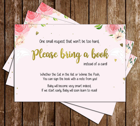Heaven Sent -  Baby Shower - Bring A Book Insert