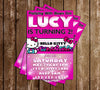 Hello Kitty - Pink Bows - Birthday Party - Invitation