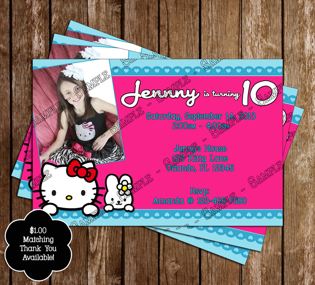 novel concept designs hello kitty birthday party invitation hello kitty birthday party invitation child s photo printable