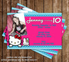 Hello Kitty Character Birthday Party Invitation with Child's Photo Printable