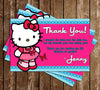 Hello Kitty Character Birthday Party Thank You Printable