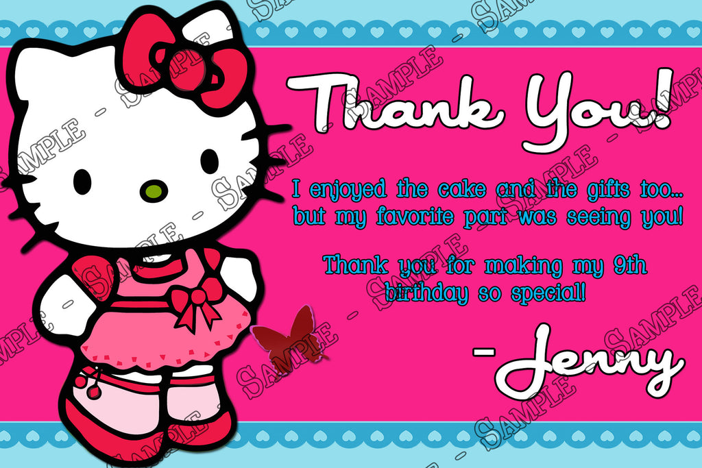 Novel Concept Designs Hello Kitty Birthday Party Invitation with