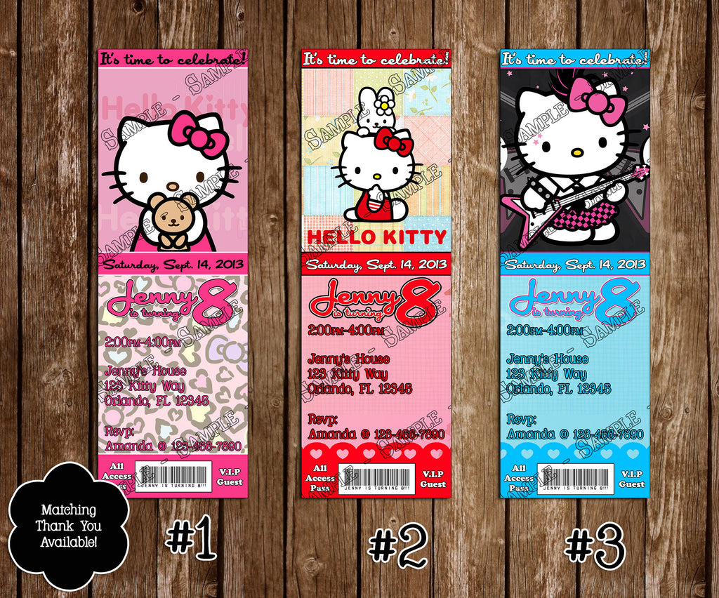 Novel Concept Designs Hello Kitty Birthday Party Ticket – Printable Ticket Invitations