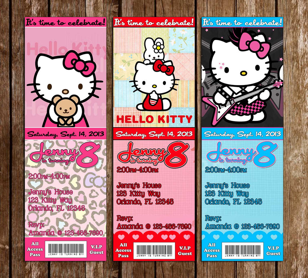 novel concept designs hello kitty birthday party ticket invitation