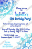 Henna Art / Tattoo - Birthday Party - Invitation