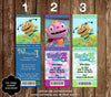 Disney Henry Hugglemonster Show Birthday Ticket Invitation