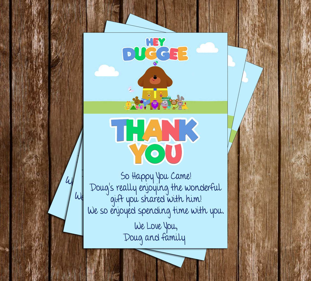 Hey Duggee - TV Show - Birthday Party - Thank You Card