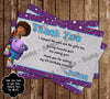 Home Movie Birthday Party Ticket Invitation