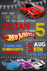 Hot Wheels - Cars - Birthday Party - Invitation