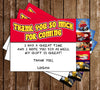 Hot Wheels - Red - Birthday Party - Invitation