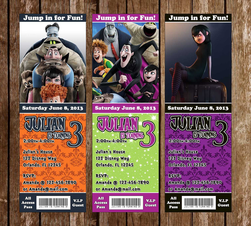Hotel Transylvania Birthday Party Ticket Invitation