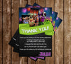Hotel Transylvania 3 - Birthday Party - Thank You Card