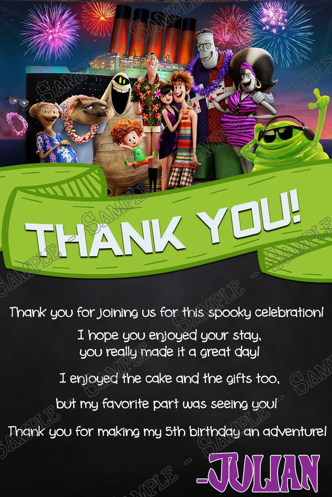 Pack of 10 Hotel Transylvania Thank You Notes With Envelopes