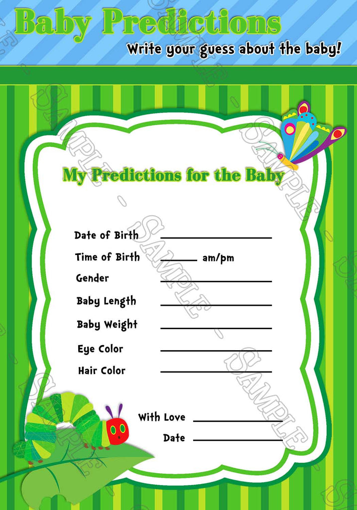 Novel Concept Designs - The Very Hungry Caterpillar Baby Shower ...