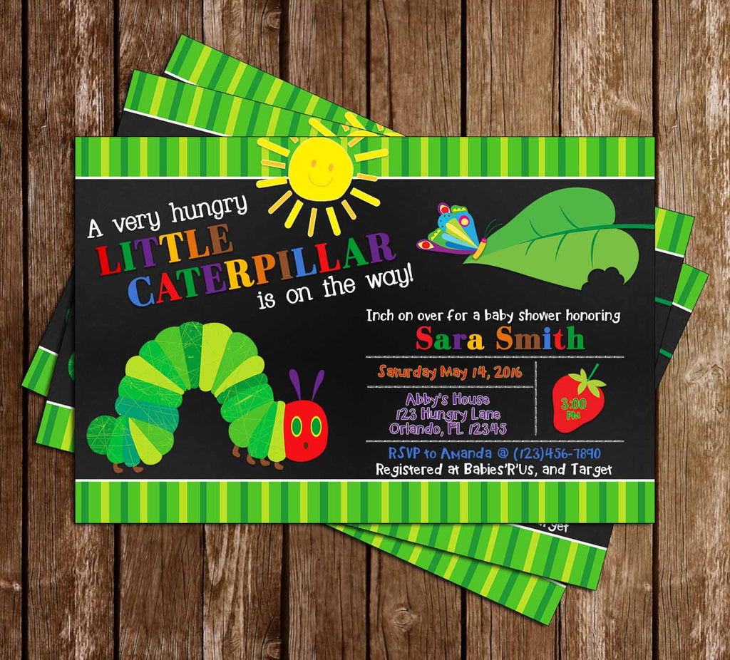 The Very Hungry Caterpillar Baby Shower Invitation