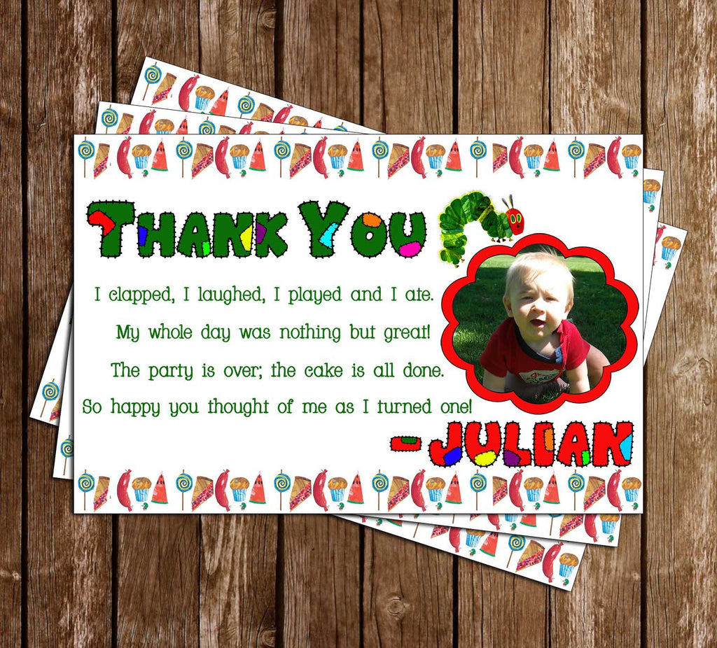 The Very Hungry Caterpillar Thank You Card (Photo)
