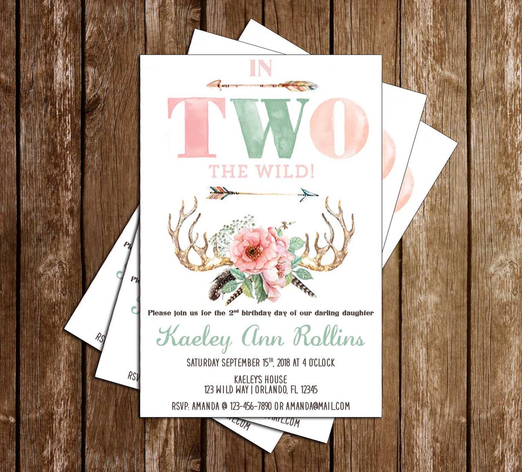In Two the Wild - Birthday - Party - Invitation