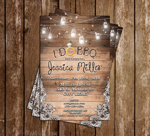 Before I do BBQ - Bridal Shower - Invitation